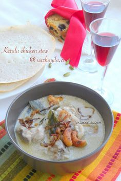 Kerala Chicken Stew & Appam