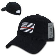 Rapid Dominance Ems Fire Department Thin Red Line US Flag Baseball Dad Caps  Hats 50594f0adb8d