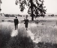 """Pirkle Jones, """"Couple at the Cemetery, from the Back, Berryessa Valley, from the series Death of a Valley"""" (1956, printed 1960) 