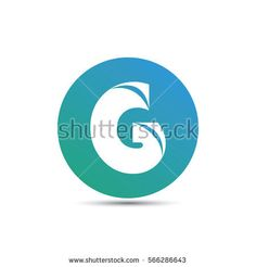initial letter g creative circle logo typography design for brand and company identity. gradient blue color