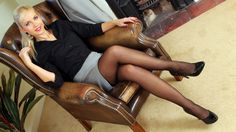 Another classical secretary #blondes #legs #stocking