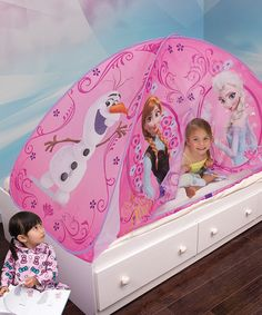 Look at this Frozen Light-Up Bed Tent on #zulily today!