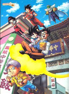 Goku, Goten, Trunks, Gohan, Piccolo and Videl Anime Naruto, Anime Echii, Dbz, Dragon Ball Z, Blade Runner, Goten Y Trunks, Manga Dragon, Anime Group, Otaku