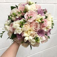 Pastel delight from Bridal Flowers, Flower Bouquet Wedding, Floral Wedding, Bride Bouquets, Floral Bouquets, Floral Arrangements, Beautiful Flowers, Marie, Wedding Planning