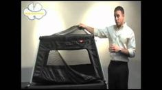 Phil & Teds travel cot, via YouTube.