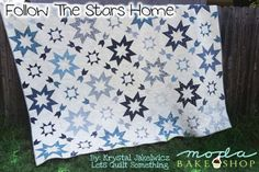 Hello fellow quilters! Today I have for you Follow the Stars Home, a KING SIZE quilt pattern. One of my second favorite quilt block are stars. This is a perfect quilt to lay across your bed just in ti