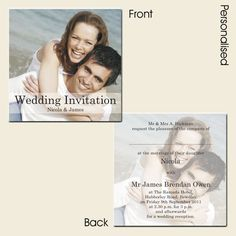 Wedding Invitations - Use Your Own Photo - Postcard Style