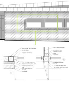 Gallery of Hicks Orthodontics / BarberMcMurry architects - 15 Architecture Panel, Architecture Student, Architecture Portfolio, Concept Architecture, Architecture Details, Drawing Architecture, Interior Architecture, Building Skin, Architectural Section