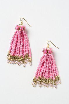 Bead Tassel Earrings #anthropologie