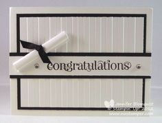Love the elegant simplicity of this card. Northwest Stamper » Jennifer Blomquist, Stampin' Up! Demonstrator » Elegant Congratulations Graduation Card