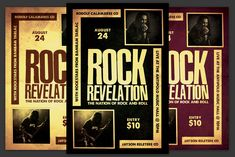 Rock Revelation Flyer by KiraYamato on Concert Flyer, Model Photos, Flyers, Rock And Roll, Indie, Model Headshots, Model Pictures, Ruffles, Rock Roll