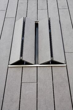 EQUITONE facade materials. Beach house Netherlands. Window shutter detail. www.equitone.com #architecture #material #facade