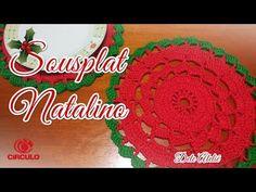 Sousplat Natalino de Crochê | passo a passo | Professora Simone - YouTube