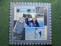 A day of winter fun using sheena's stamps Winter Fun, Scrapbook Pages, Stamps, Polaroid Film, Frame, Decor, Asylum, Seals, Picture Frame