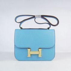 Wholesale Réplique Hermes Mini Constance sac L-Blue Togo en cuir or  Hardware - € 572753564ca