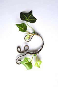 Ivy ear cuff Poison ivy fancy dress mother by InMyFairyGarden
