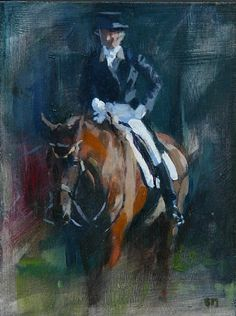 On the Buckle by Sally Martin Oil ~ 8inch x 6inch
