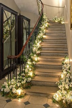 Love the flowers lining the staircase