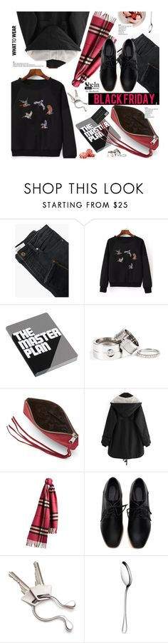 """What to Wear: Black Friday Shopping"" by beebeely-look ❤ liked on Polyvore featuring MANGO, Nuuna, Rebecca Minkoff, Burberry, Georg Jensen, Christofle, StreetStyle, casual, WhatToWear and shoptilyoudrop"