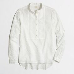 J.Crew Factory  Factory textured placket shirt - crisp and clean