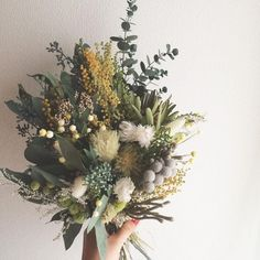 If you 'd rather check out a wholesale wedding flower merchant and order flowers to make your own bridal arrangements, boutonnieres and so forth is part of Flower bouquet wedding - Dried Flower Bouquet, Flower Bouquet Wedding, Floral Wedding, Bohemian Wedding Flowers, Bohemian Weddings, Wild Flower Bouquets, Wedding Dried Flowers, Wild Flower Wedding, Wild Flowers