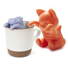 Gama-Go Hippo and Kit-Tea Infusers: Brew up a special gift with these tea infusers, blends, kettles, and other tea products