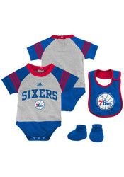 Pin by designs by chad and jake on philadelphia 76ers baby gift philadelphia 76ers grey newborn little player creeper set super cute baby shower gift idea negle Image collections