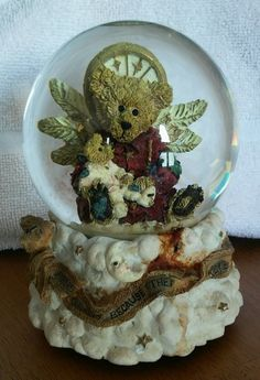 Angel Bear Christmas Snow Globe | eBay