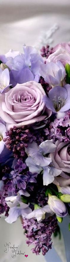 Frivolous Fabulous - Wedding Bouquet of Lavender and Purple Roses
