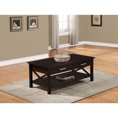 Waterloo Collection Dark Walnut Brown Coffee Table | Overstock™ Shopping - Great Deals on WyndenHall Coffee, Sofa & End Tables