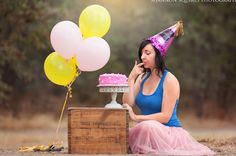 Hilarious cake smash photos feature a very unique birthday girl