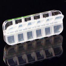 12 Células Nail Art Glitter Rhinestone Decoração Loja Vazia Recipiente caixa de Caixa De Armazenamento De decoração de unhas Atacado Drop Shipping alishoppbrasil