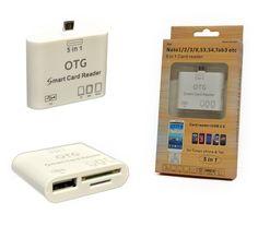 5 in 1 OTG Kartenleser Adapter Micro USB Card Reader Kabel USB Buchse SD HC TF