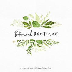 How lovely is this logo? Would be perfect for a florist shop :) Premade Logo Design Blog Logo, Logo Branding, Branding Design, Handwritten Logo, Typographie Logo, Florist Logo, Flower Logo, Leaf Logo, Business Card Design