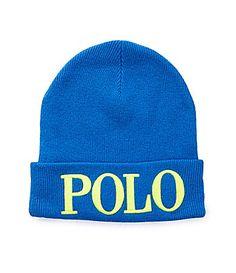 Polo Embroidered Icon Beanie #Dillards