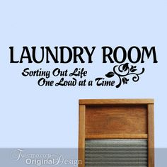 Vinyl Wall Decal Laundry Room Wall Decor Sign Sorting by Twistmo, $20.00