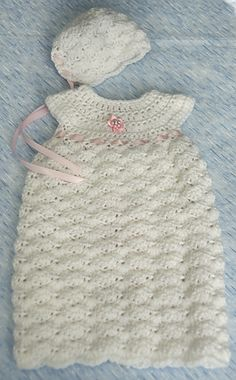 Burial Gown Set | Preemie and Newborn | Ravelry | Free Pattern