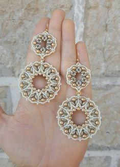 Seed Bead Earrings, Beaded Earrings, Statement Earrings, Crochet Earrings, Seed Beads, Bead Jewellery, Beaded Jewelry, Jewelery, Handmade Jewelry