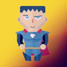 Cute superhero character
