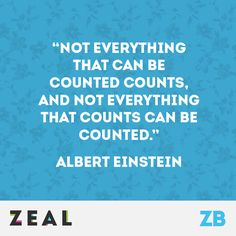 """""""Not everything that can be counted counts, and not everything that counts can be counted."""" - Albert Einstein #Quote #Einstein #Marketing"""