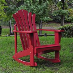 @Overstock.com - Color: Cherry red  Materials: Cedar wood  Style: Adirondack rocker  http://www.overstock.com/Home-Garden/Sanibel-Cherry-Red-Cedar-Adirondack-Rocker/6008419/product.html?CID=214117 $113.99