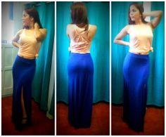 maxi falda con aberturas al frente