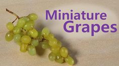 Easy; Miniature Grapes - Polymer Clay Tutorial