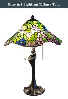 Fine Art Lighting Tiffany Table Lamp, 16 by 23-Inch, 420 Glass Cuts. Traditional and contemporary elements combine to create a timeless look with the stylish design of this lamp by Fine Art Lighting. An eye-catching complement to any home that will easily blend with your home decor scheme. Featuring hand-crafted stained glass, any visitor will be amazed at the look and feel created by this piece as it brightens your home, and your life, with beauty and elegance.