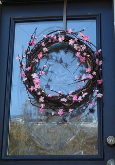 A Target find: simple spring wreath Diy Wreath, Grapevine Wreath, Seasonal Decor, Holiday Decor, Summer Wreath, Craft Work, How To Make Wreaths, Wreaths For Front Door, Porch Decorating