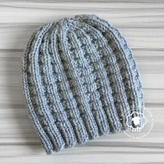 The Kaza Hat features a waffle stitch pattern; a super easy, repeat that c… – Knitting patterns, knitting designs, knitting for beginners. Beanie Knitting Patterns Free, Knit Beanie Pattern, Knitting Blogs, Loom Knitting, Knit Patterns, Free Knitting, Crochet For Beginners Headband, Knit Or Crochet, Crochet Hats