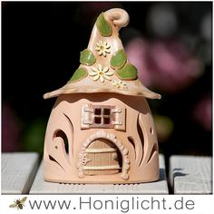 """Keramik-Windlicht """"Wichtelhaus"""" 