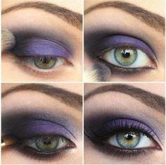 Add violet shadow to switch up a dark smokey eye