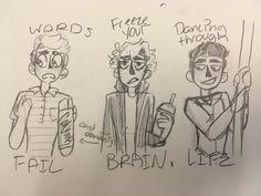 Evan Hansen (Dear Evan Hansen) JD (Heathers) Fiyero (Wicked)