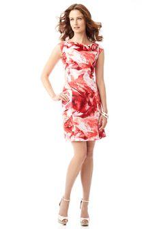 085e61359f SANDRA DARREN Rose Print Shift Dress Print Shift